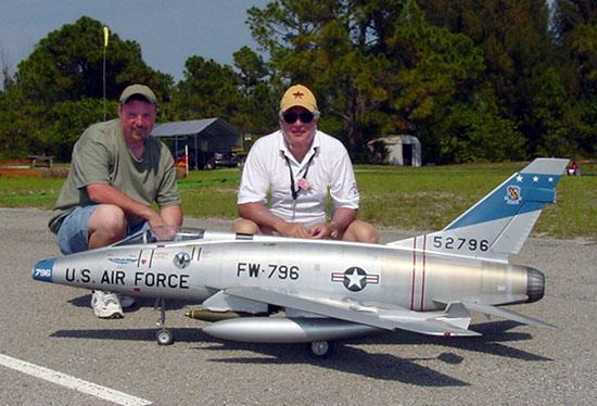 Tom and David with the F-100