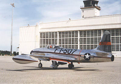 Side view of Rene's F-80